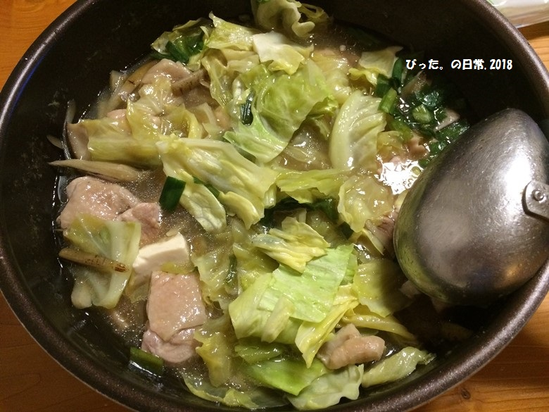 生姜スープの鶏鍋