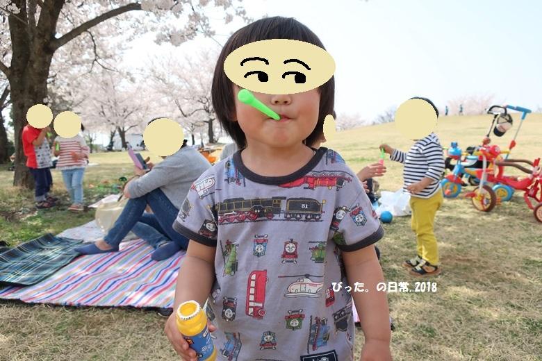 ohanami,お花見,シャボン玉,my son
