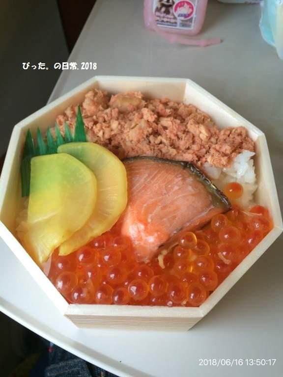 akita-shinkansen,駅弁,鮭はらこ弁当